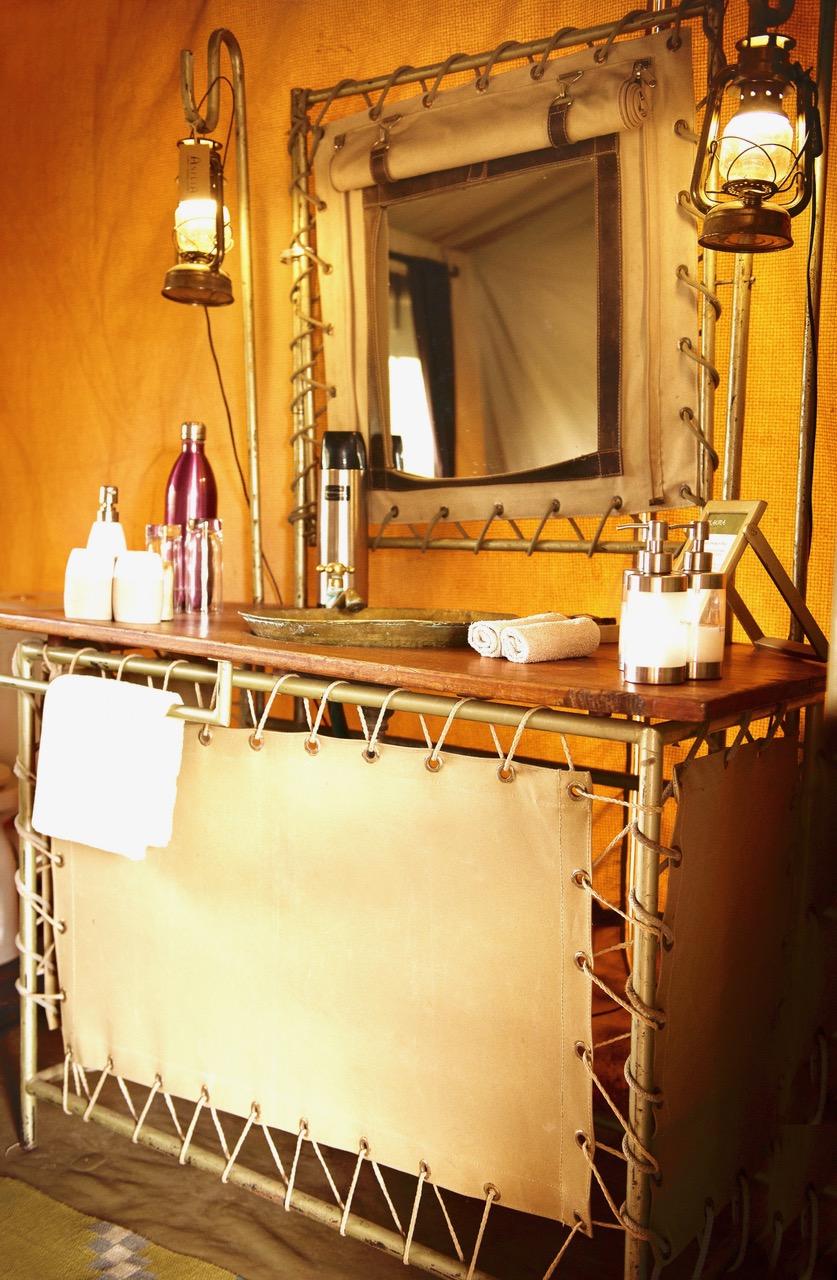 Olakira Camp Guest Bathroom Detail Eliza Deacon MR