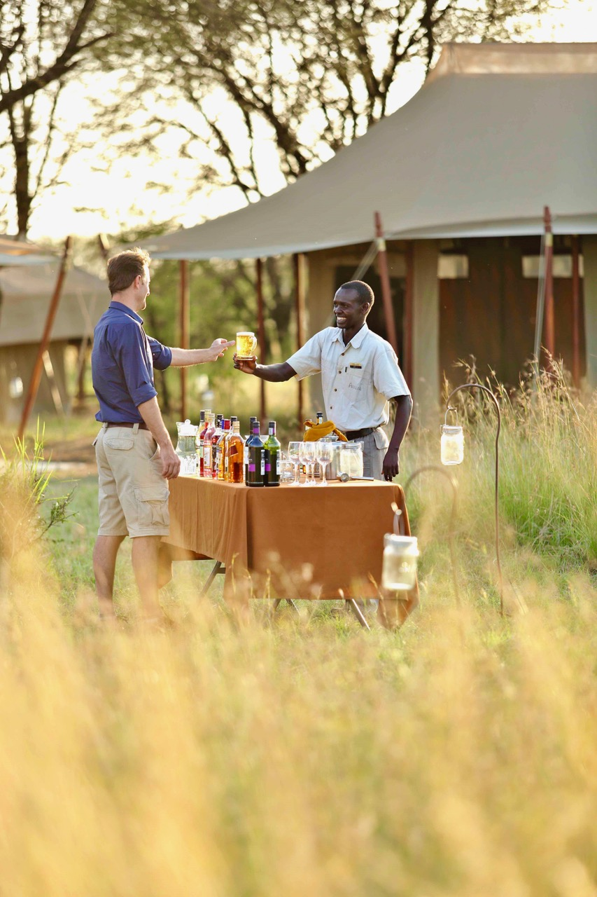 Olakira Sundonwer Drinks In Camp