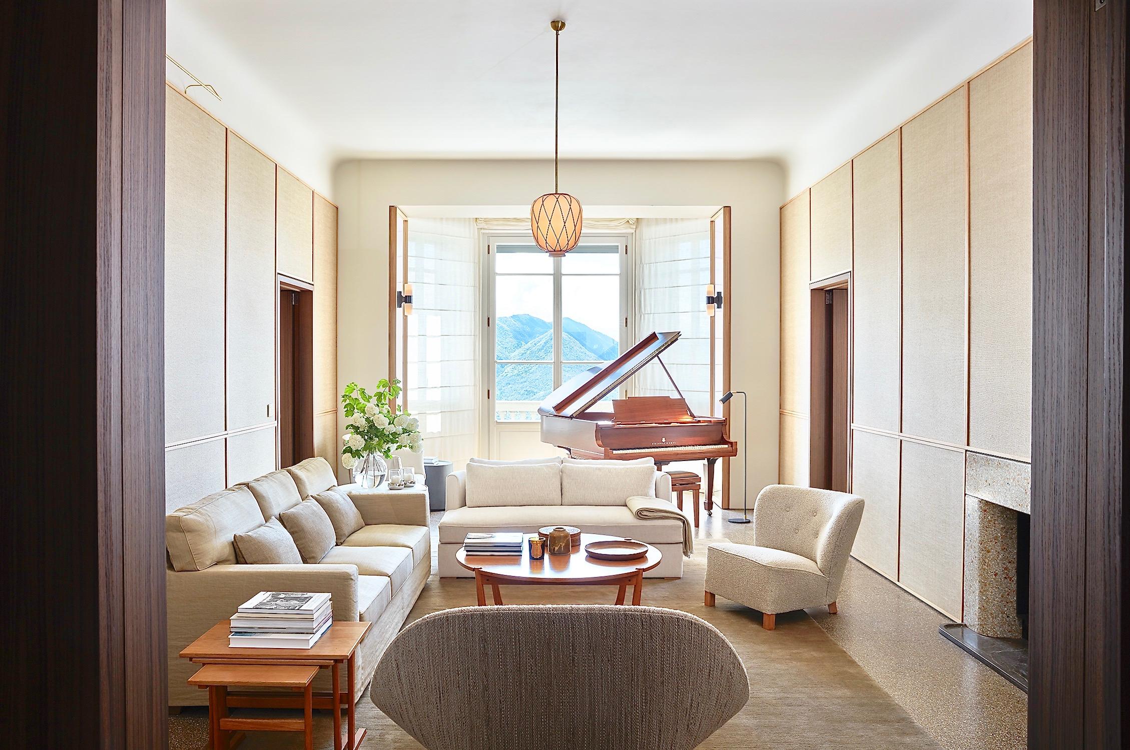 Villa Peduzzi Pigra Lake Como Ground Floor Piano Salon